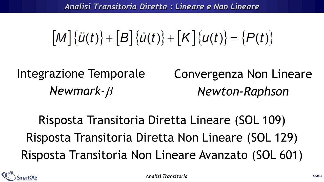 Analisi transitoria diretta - lineare e non lineare