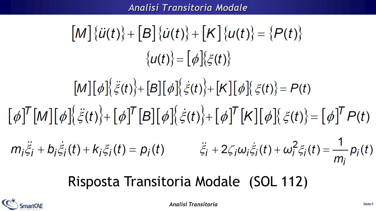 Analisi transitoria con metodo modale