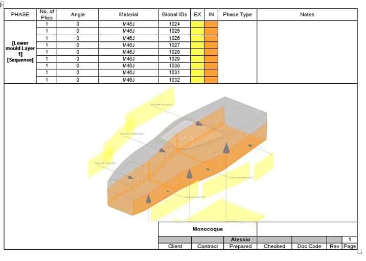 Esempio di phase book realizzato con Laminate Tools