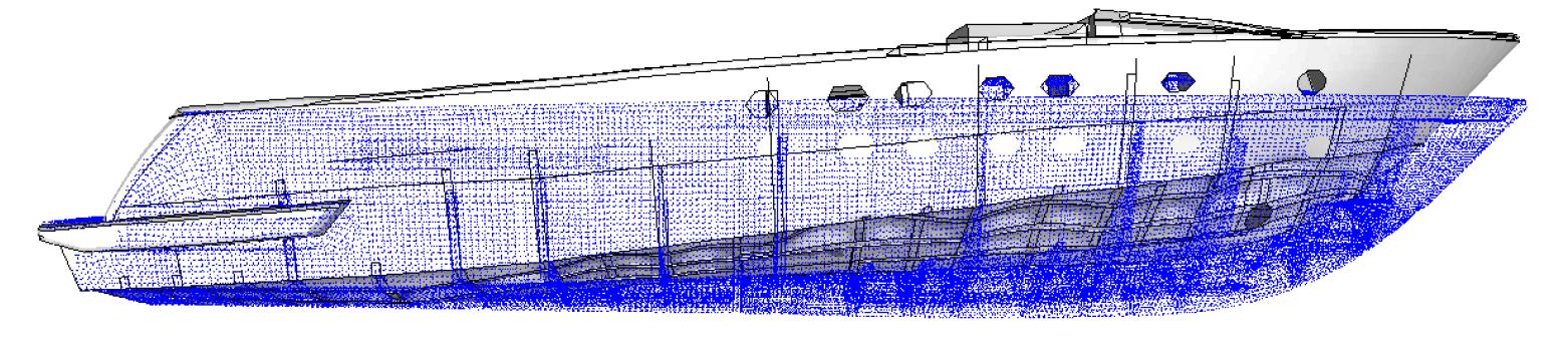 Fig. 3 – Deformata statica (amplificata)