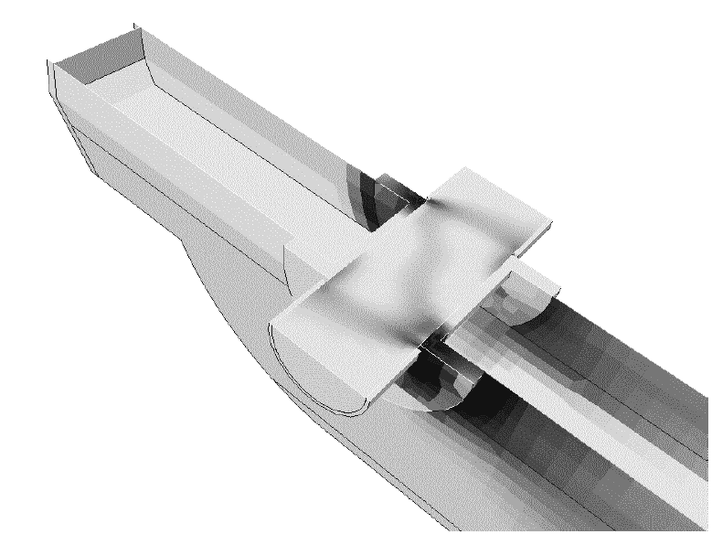 Fig. 7 – Sezione nella zona di collegamento