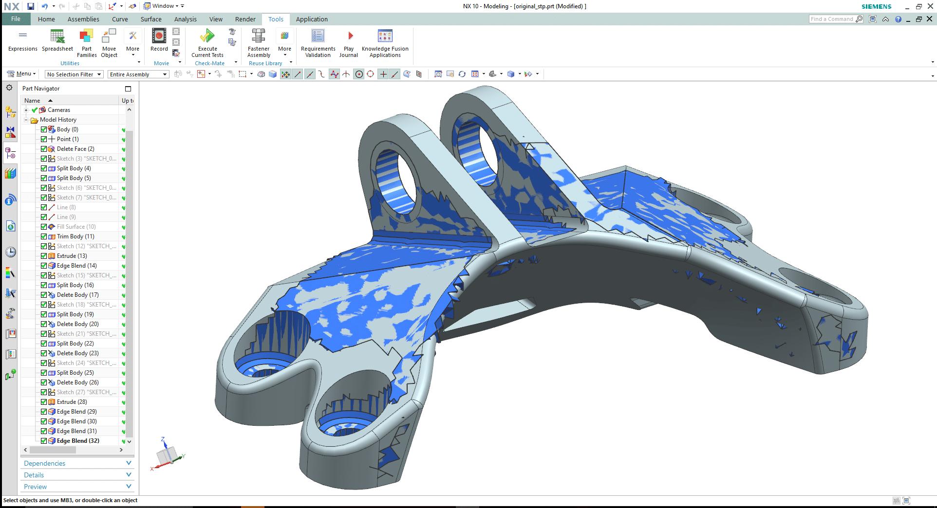 Figura 5 – Interpretazione CAD dell'ottimizzazione topologica